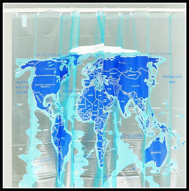Fashion translucence pvc blue world map shower curtain trendy fashion translucence pvc blue world map shower curtain trendy educational geography bathroom supplies waterproof shower curtain world map shower curtain gumiabroncs Choice Image