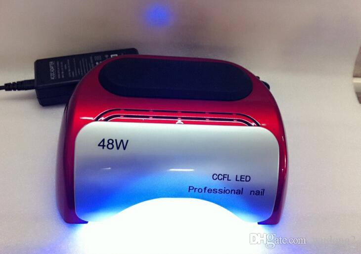 Профессиональный ногтей сушилка 48 Вт CCFL УФ светодиодные лампы для ногтей гель польский ногтей инструмент 110-220 в