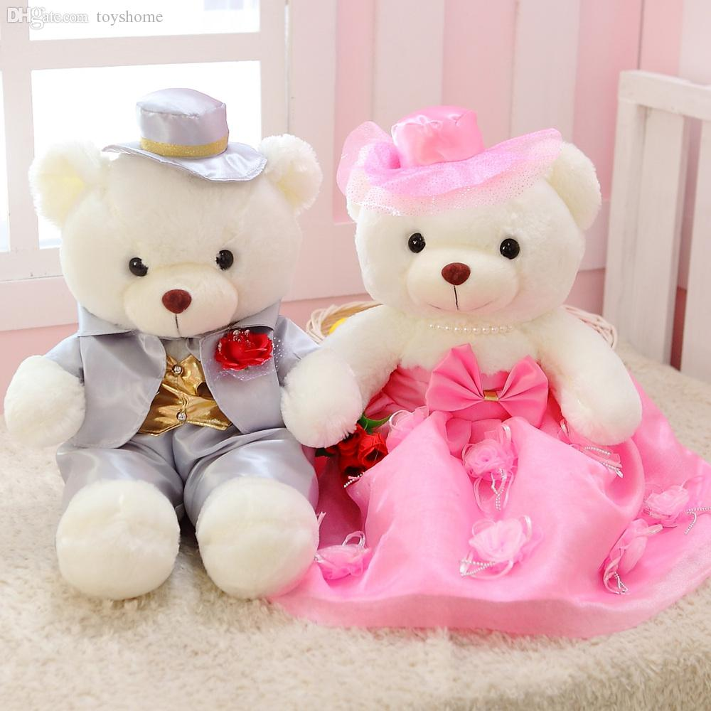 Wholesale-Stubborn Beauty Queen Wedding Gift Teddy Bear Wedding Doll ...
