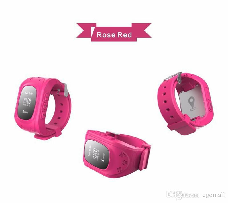 HQ Anti perso GPS Tracker Watch bambini SOS emergenza GSM Smart Phone App IOS Android Smartwatch Wristband Alarm