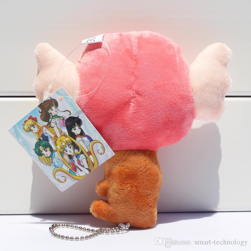 Anime Sailor Moon Sceptre Plush Toy With Ring Stuffed Doll plush keychain 13cm EMS