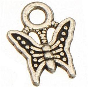 400 قطعة / الوحدة جديد diy الأزياء الكلاسيكية مجوهرات العثور المعادن الحيوان خمر الفضة فراشة samll سحر ل اليدوية 11 * 9 ملليمتر