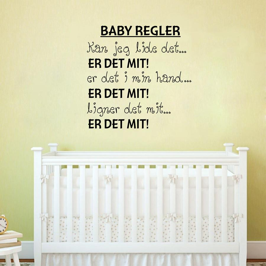 Danish Baby Regler Vinyl Wall Decals Sticker For Nursery DecorDenmark Letter Wall Art For Home Decoration Stickers Wall Art Stickers Wall Decals From ...  sc 1 st  DHgate.com : baby vinyl wall art - www.pureclipart.com