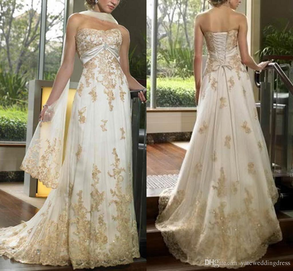 Araba Golden abito da sposa innamorato fuori dalla spalla maniche lunghe Lunghezza posteriore lace-up Sash A su ordine Line abito da sposa da sposa