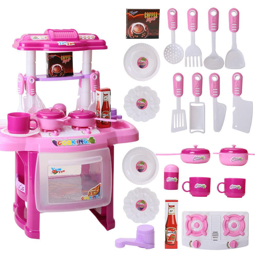 Wholesale- Funny Children Love Portable Kitchen Toys Set Cute Kids ...