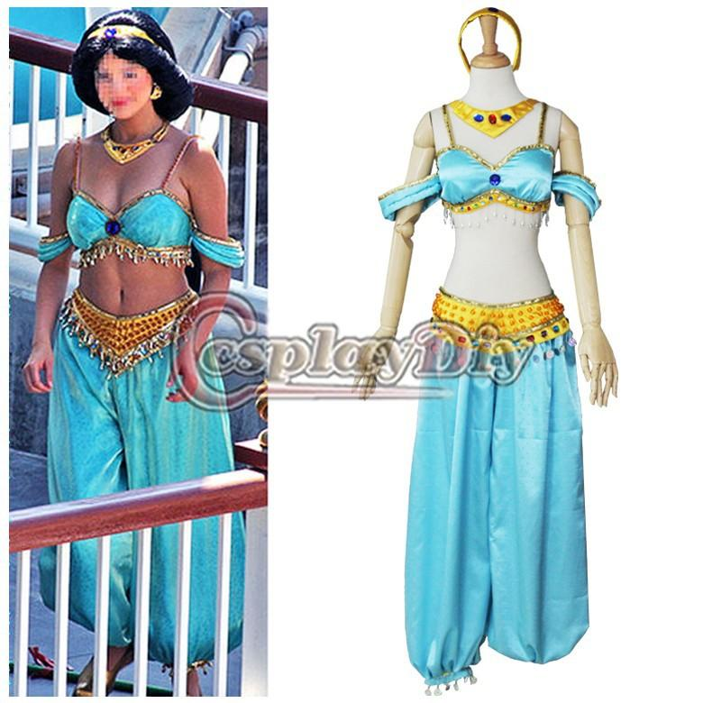 Custom Made Adult Women Aladdin Jasmine Dress Costume Sexy Fantasy Carnival Halloween Movie Cosplay Costume Themed Halloween Costumes Office Halloween ...  sc 1 st  DHgate.com & Custom Made Adult Women Aladdin Jasmine Dress Costume Sexy Fantasy ...