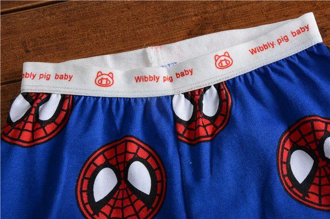 SPIDERMAN Short Summer Pajamas Set Red Spider-Man Boys Kids Short Sleeve Set/Nightwear Sleepwear Newest 100% Cotton Boys Pyjamas