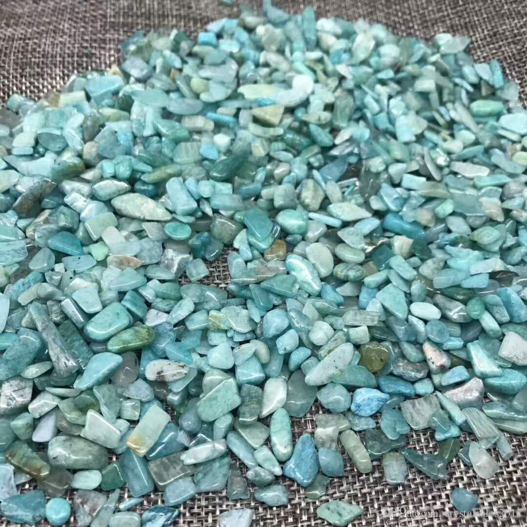 Sac 1 100 g de cristal de quartz amazonite pierre naturelle crysta de pierre Tumbled pierre irrégulière taille: 7-- 12 mm, couleur: bleu