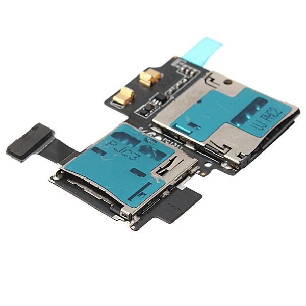Nuevo Rango de la Bandeja del Sostenedor del Lector de Tarjeta SIM de Reemplazo de Precio Más Bajo Flex para Samsung Galaxy S4 I9500 I9505