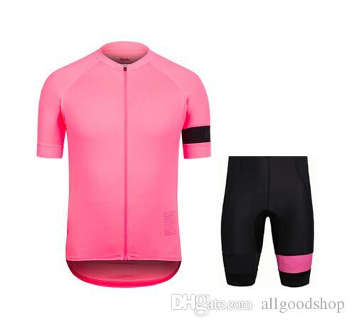 2016 Rapha 사이클링 유니폼 쿨 바이크 슈트 바이크 저지 안티 박테리아 사이클링 반팔 셔츠 턱받이 반바지 Mens Cycling Clothing