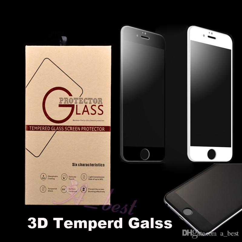 For iphone 7 3D curve Tempered Glass Screen Protector For iPhone 6 plus lcd assembly full front cover curved film