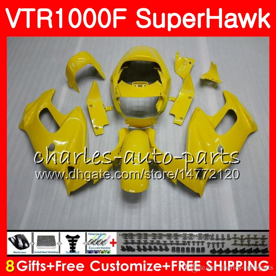 Honda VTR1000F SuperHawk 97 98 99 00 01 02 03 04 04 05在庫イエロー91HM2 VTR 1000F 1997 1997 1997 1997 2004 2004 2004 2004年フェアリング