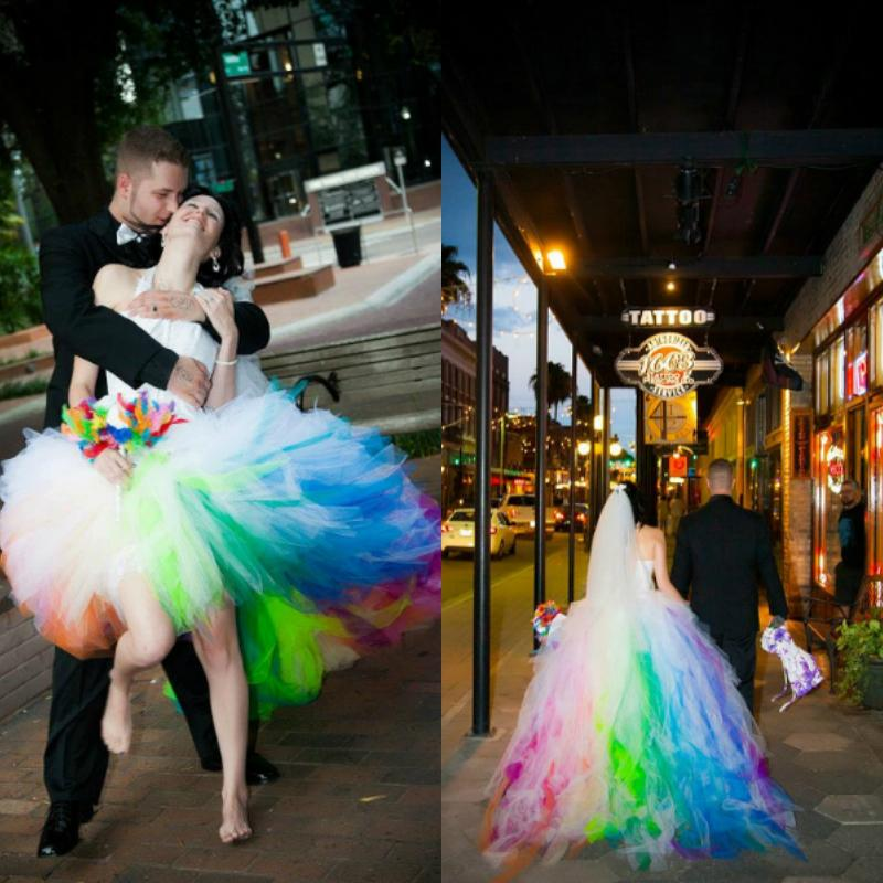 2015 sexy high low tulle ruffles robe de mariage rainbow wedding 2015 sexy high low tulle ruffles robe de mariage rainbow wedding dresses bride dresses ls09 junglespirit Image collections