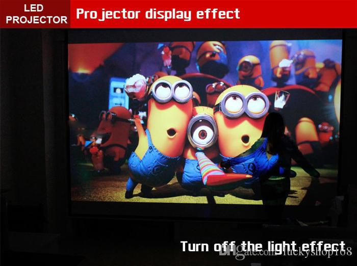 New Factory Price LED96 5500lumens Video HDMI USB TV 1280x800 Full HD 1080P Home Theater 3D LED projector Projetor proyector beamer DHL