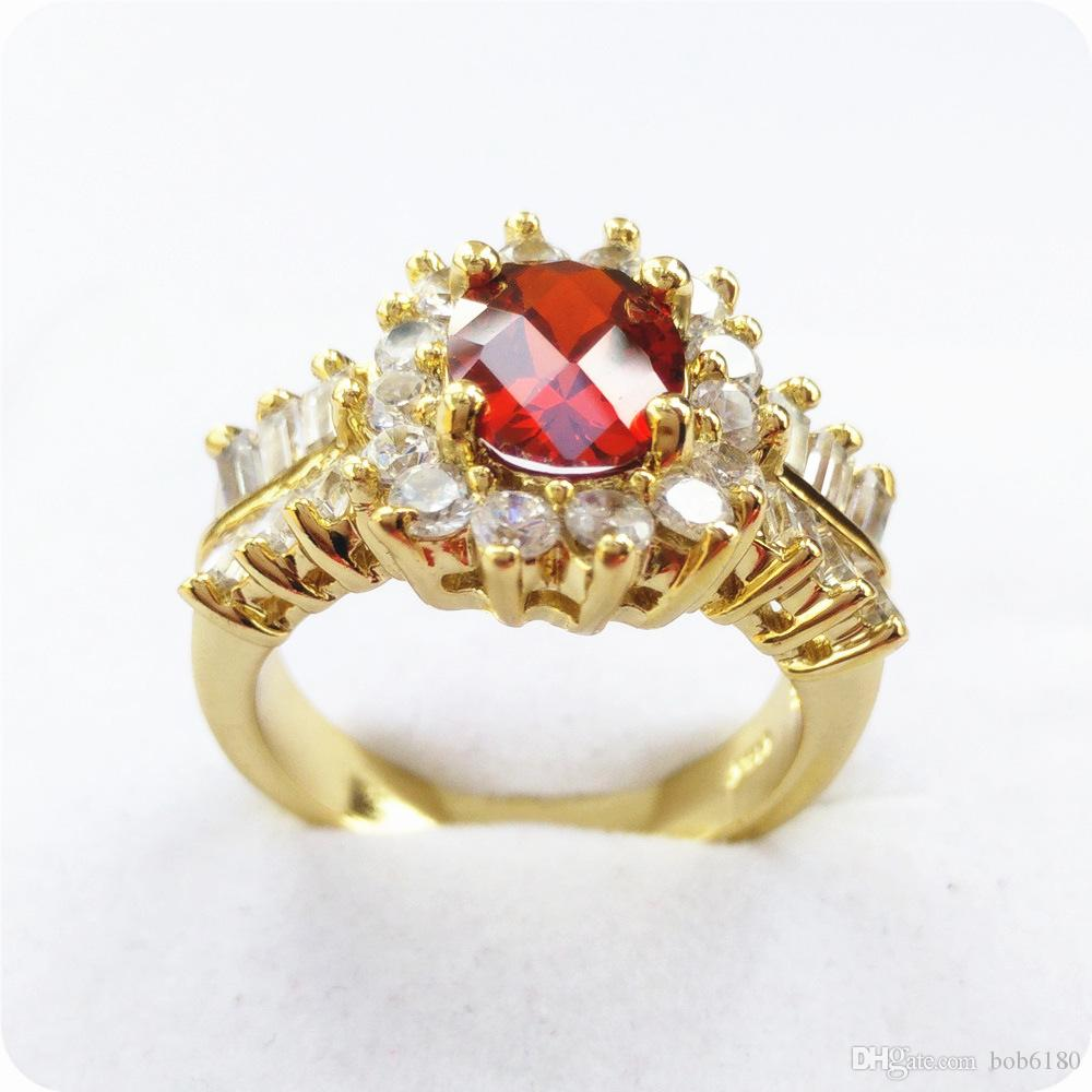 BRAND NEW EXCELLENT STUNNING NATURAL 2.6CT RUBY 14KT GOLD EDELSTEINRING -RY11