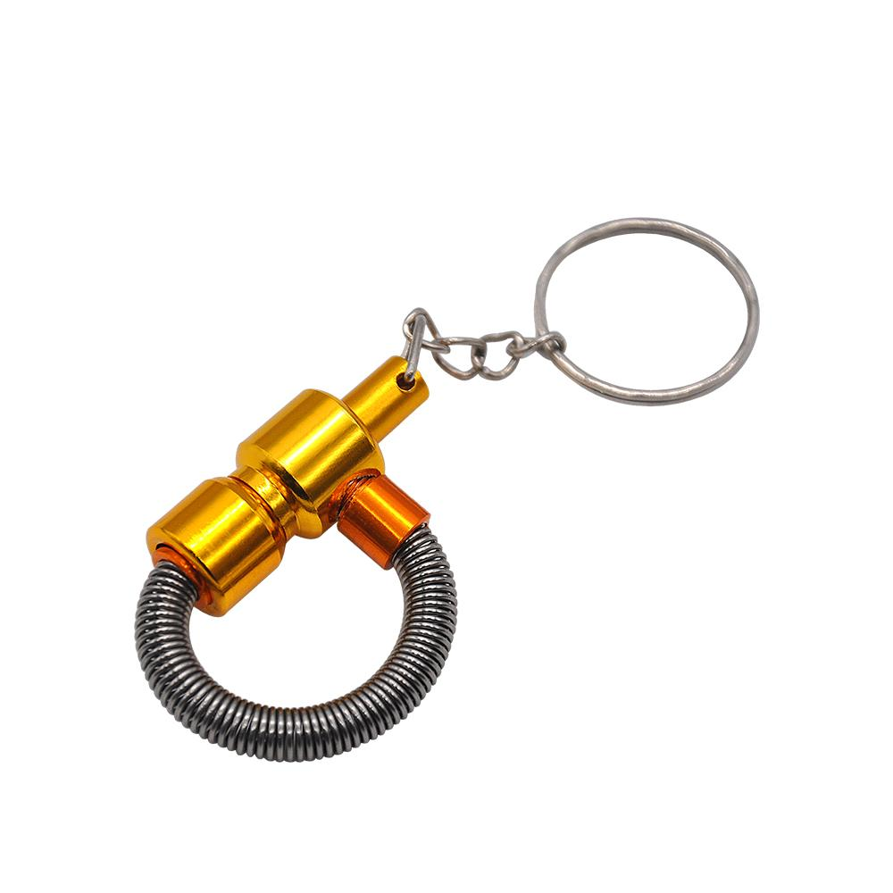 Portable Key Chain Spring Smoking Pipe Meltal Tobacco MINI Pipes Cigarette PipeCleaners Color Random Easy to Use