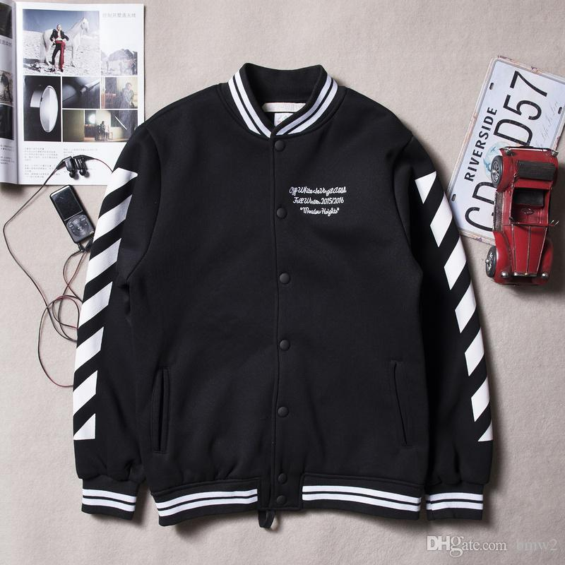 2016 New York Off White Baseball Jacket Men Coat Hip Hop Street ...