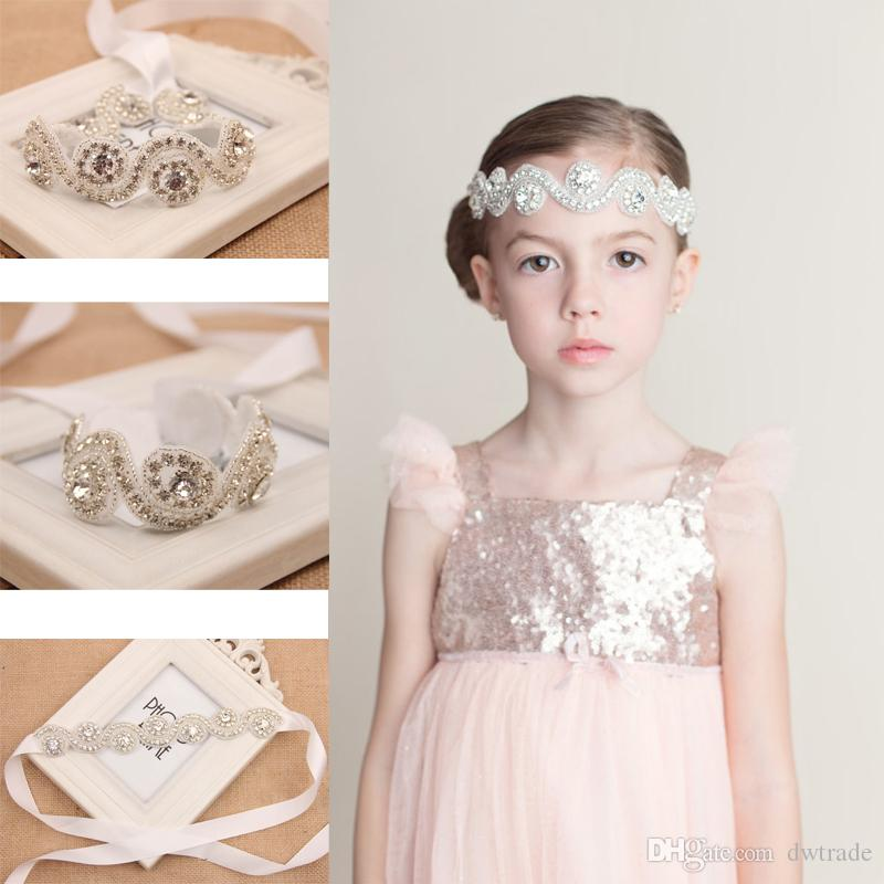2015 HOT Mädchen Hochzeit Strass Stirnbänder Günstige Kristall Tiaras Blume Zubehör Handmade Haarband kostenloser Versand MOQ: SVS0191 #