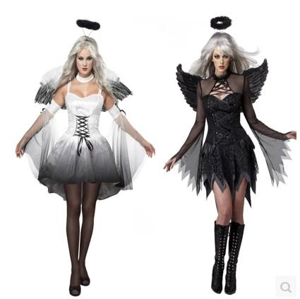 trendy 2015 angle or devil halloween costumes adult women role play evening party clothing with skirthair accessorywing halloween costumes for five best
