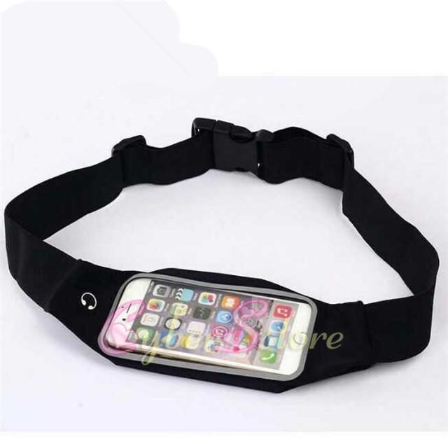 파우치 가방 케이스 커버 포켓 방수 / 투명 클리어 뷰 아이폰 X XS 최대 7 8 플러스 5 인치 실행 Unuversal 허리 벨트 스포츠