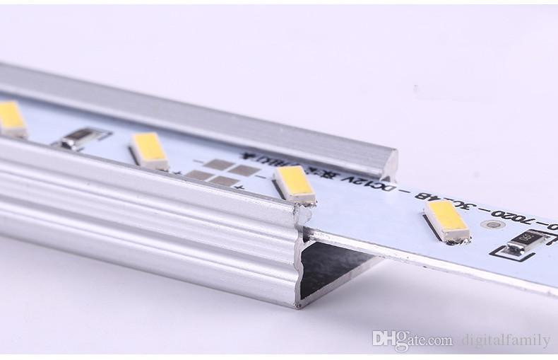 하드 LED 스트립 7020 SMD 시원한 따뜻한 화이트 리지드 바 72 LED LED 라이트