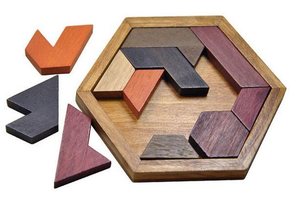 2018 Children'S Educational Toys Wooden Hexagon ...
