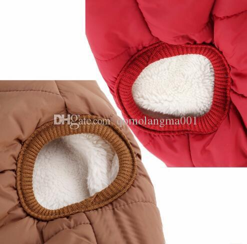 Pet Dog Winter Clothes Outdoor Waterproof Dog Vest Jacket Buckle Style Pet Costume Clothing Thick Cotton Warm Coat For Chihuahua Top Quality