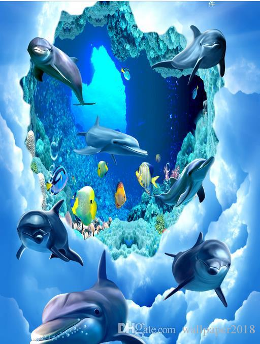 Satın Al Deniz Dünya Tropikal Balık Deniz Dünya Yunus Mercan 3d Yer
