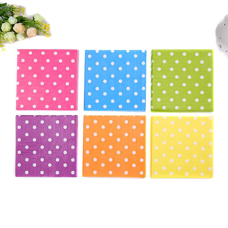 2017 New Food Grade Cute Table Paper Napkins Tissue Color