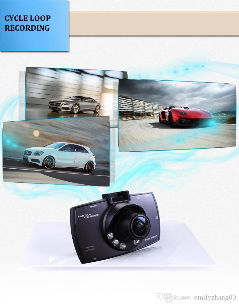 "Best Car dash Camera 2017 2.7"" 720P car dvr 160 wide angle car camcorder recorder dashboard cam Loop recording night vision"