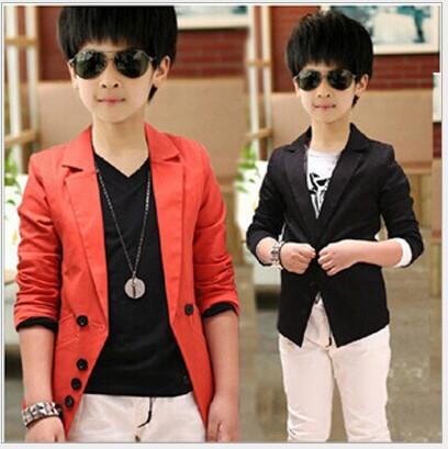 5d397dcd6d68 Fashion Big Boys Suit Coat Solid Korean Children Lapel Child Outwears  Spring Autumn Kids Button Party Clothes Black Red K4439 Winter Coat For  Girl Winter ...