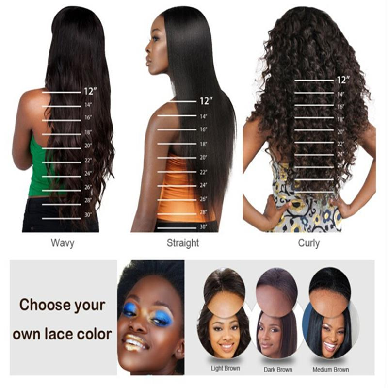 Hot Free Part Wavy Glueless Full Lace Wigs Brazilian Human Hair Front Lace Wigs for Black Women With Baby Hair