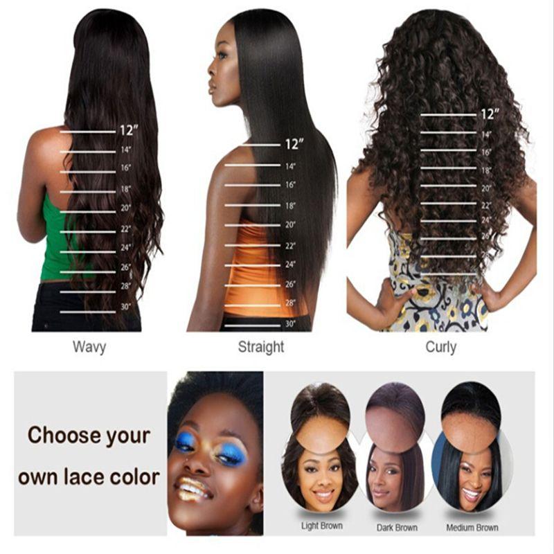 "Straight Human Hair Wig For Black Women Short Bob U Part Lace Wigs 1""x4"" Opening Size Right Part Virgin Brazilian Hair"