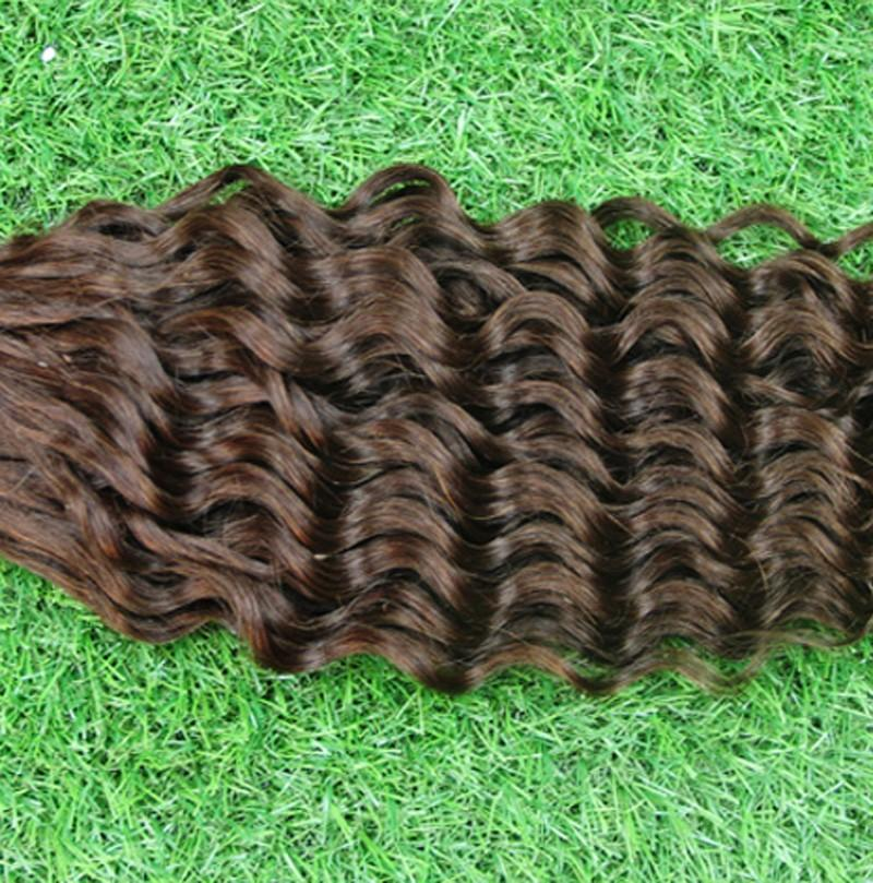 Hot Selling Capsule Keratin Fusion Pre Bonded Thick I-TIP Human Hair Extensions 100s/bag #2 Darkest Brown Brazilian Deep Wave