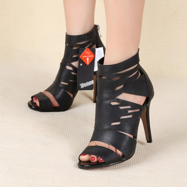 sexy 2015 summer fashion plus size women's high heels cutout