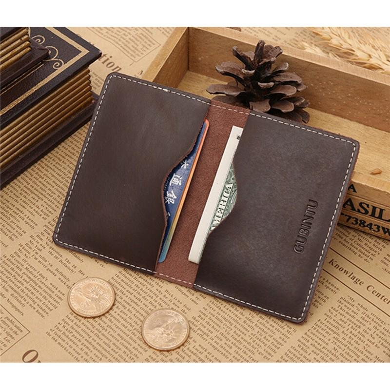 Id Credit Card Holder AEQUEEN Men Genuine Leather ID Credit Card ...
