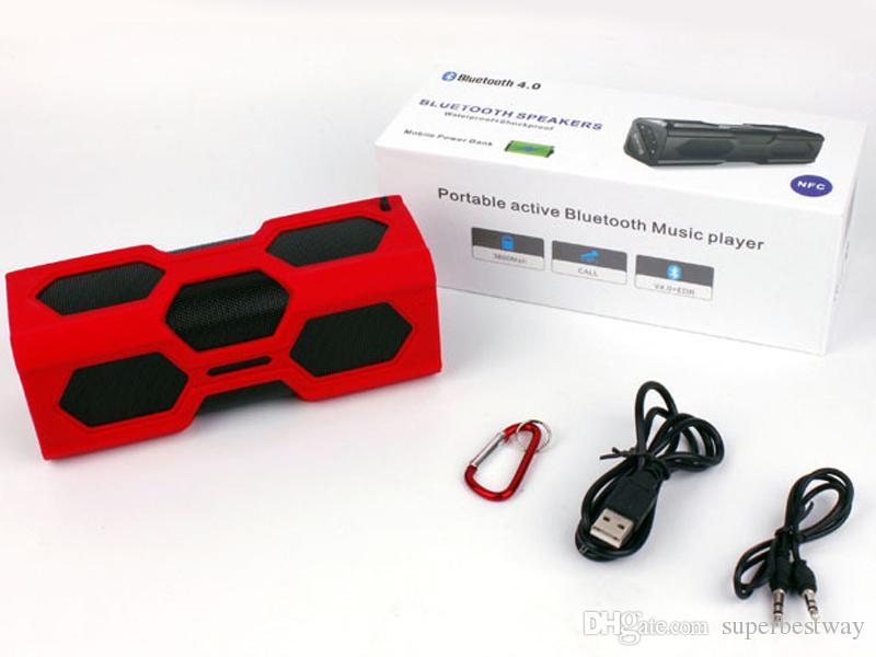 PT 390A Outdoor Speakers Bluetooth Hand Free U Disk 3.5mm Aux Port Super Bass Speaker DHL Free MIS091