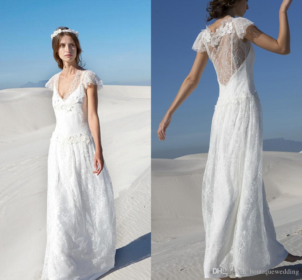 Discount 2015 Spring Rembo Styling V Neck Lace Bohemian Wedding ...