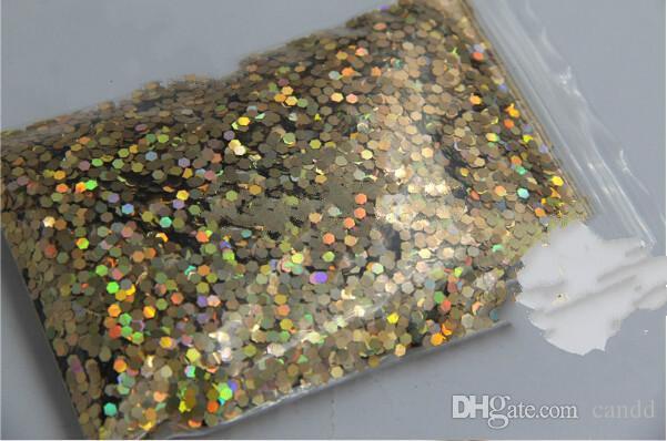 Wholesale-24 Laser Holographische Farben 2 MM Spangles Glitter für Nail Decoration und DIY Decoration 1 = 10g * = 240g