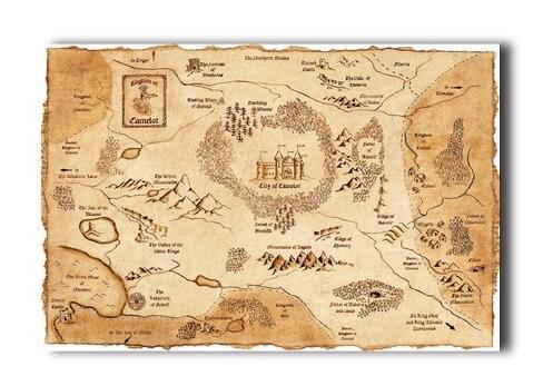 Marauder\'S Map Harry Potter 004 Poster/Print Poster Silk Wall ...