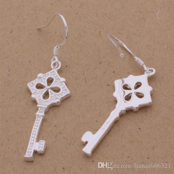 Мода производитель ювелирных изделий 40 шт. много цветов ключевые серьги стерлингового серебра 925 ювелирные изделия завод мода блеск серьги
