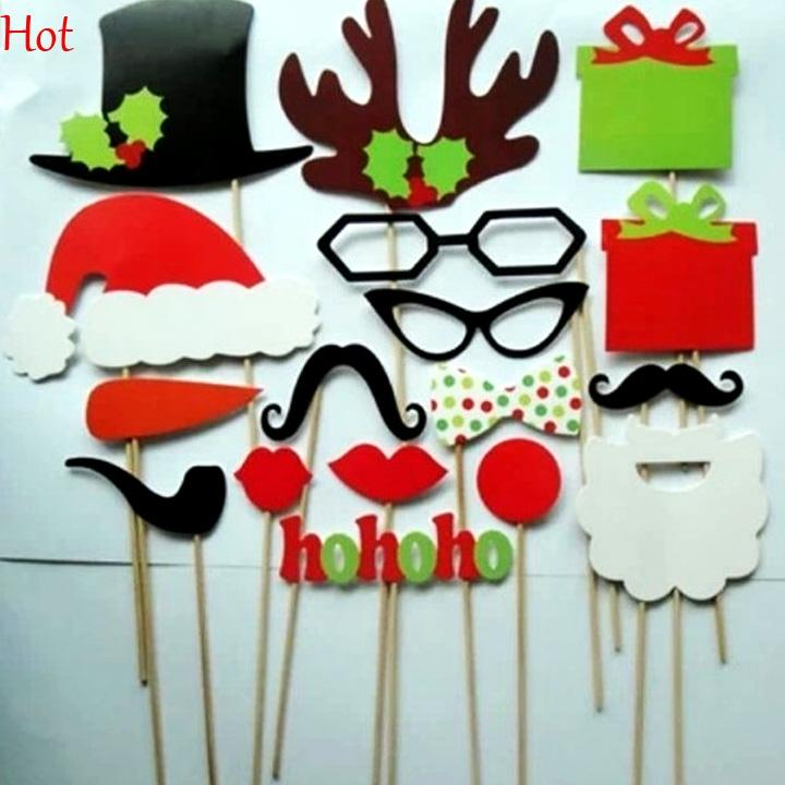 Diy Christmas Party Ideas Part - 27: 2018 Diy Photo Booth Props Mustache Glasses Hats Stick Wedding Christmas  New Year Party Accessories Mask Funny Photograph Tools Sv011689 From  Shally_2015, ...