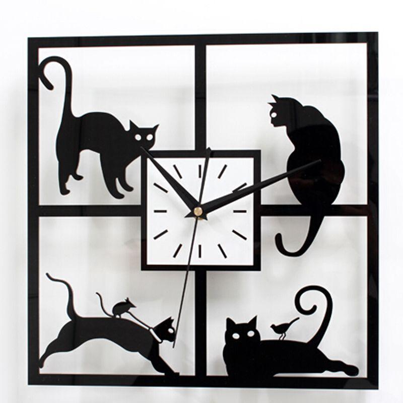 New Creative Large Wall Clock Modern Design Children Living Room