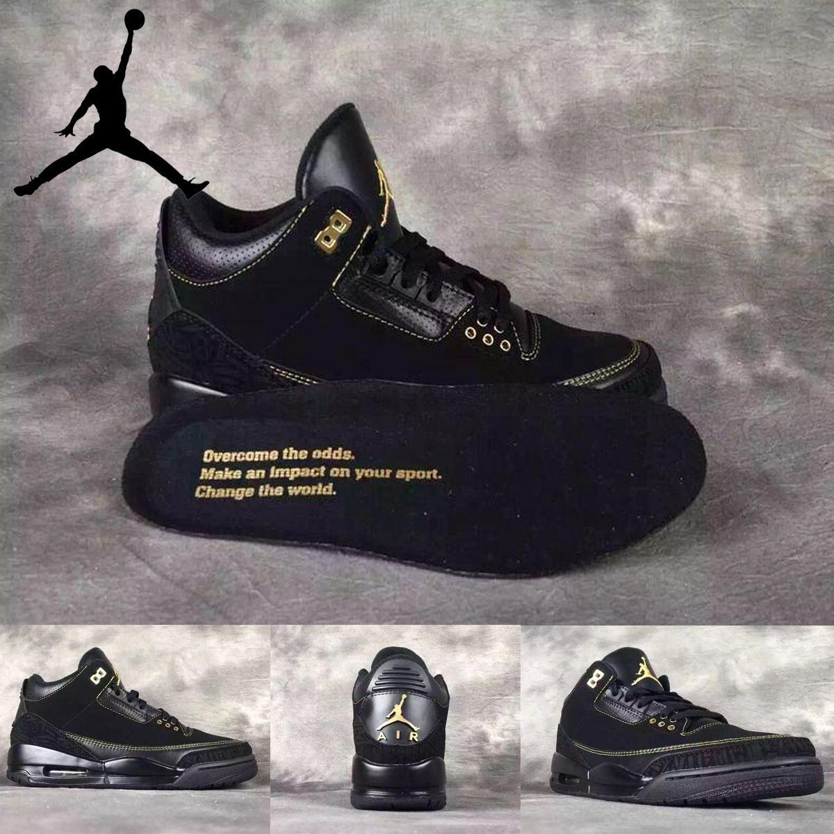 b081d6df6e3a Nike Air Jordan 3 Iii Black History Month Mens Basketball Shoes Aaa ...