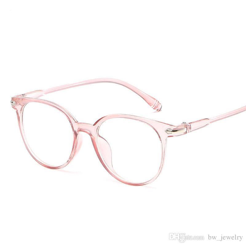 782a365180e982 Acheter Mode Coréenne Verres Transparents Cadre Anti Bleu Clair Lunettes  Femmes Faux Verres Rose Lunettes Optiques Cadre Transparent Oculos De  3.91  Du ...