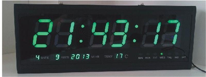 Calendario Elettronico.Ht4819sm 9 Trasporto Libero Grande Orologio Di Parete Di Alluminio Del Led Digital Grande Orologio Design Moderno Orologio Digitale Calendario
