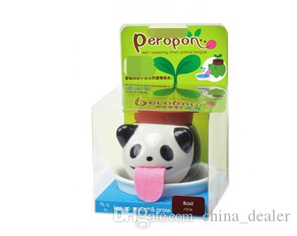 Cute Ceramic Cultivation Peropon Drinking Animal Planter Cute Animal Tongue Pot Ceramic Self Watering Planter Party Gift