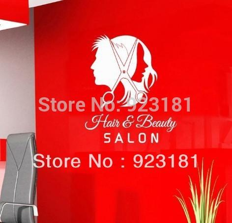 Ome Decor Wall Sticker Unisex Hair Scissors Salon Business Wall