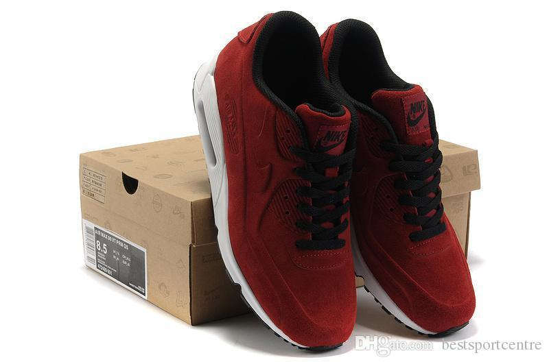 Nike Air Max 90 Men Shipping 2016 Nike Max 90 Vt Antifur Cow Leather Running Shoes Fashion Sports Airmax 90vt Training Shoes For Male,40-45