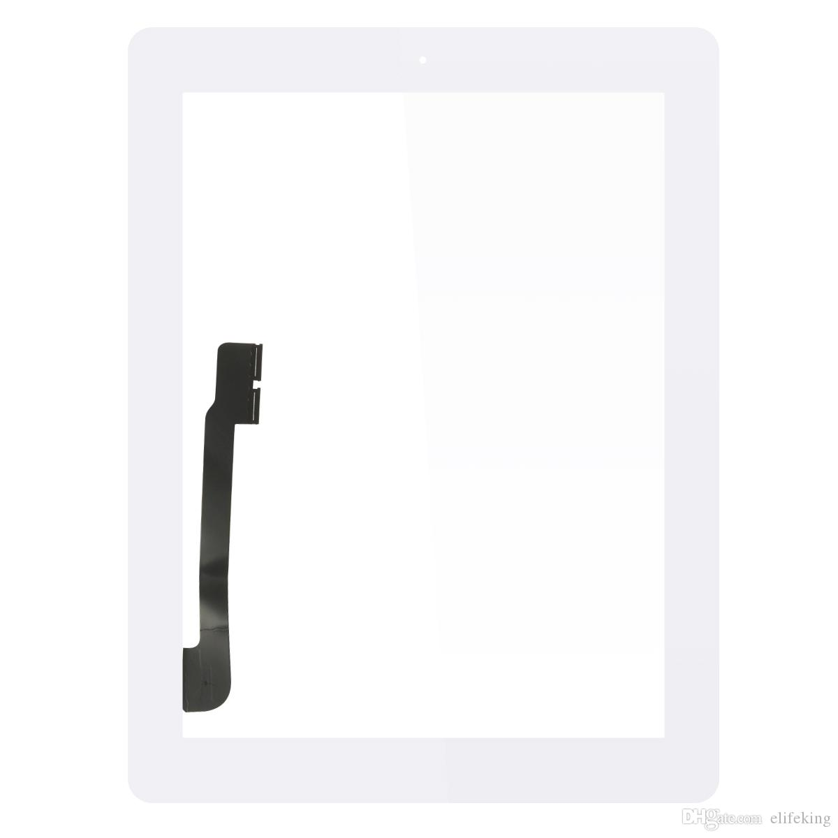 Wholesale Great Quality Front Glass Lens For iPad 4 Touch Screen Digitizer Assembly Replacement Part with Free DHL Shipping
